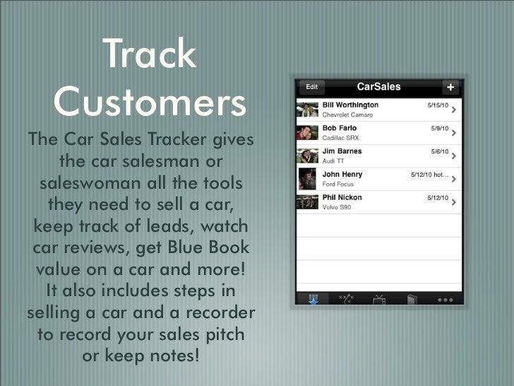 car sales tracker