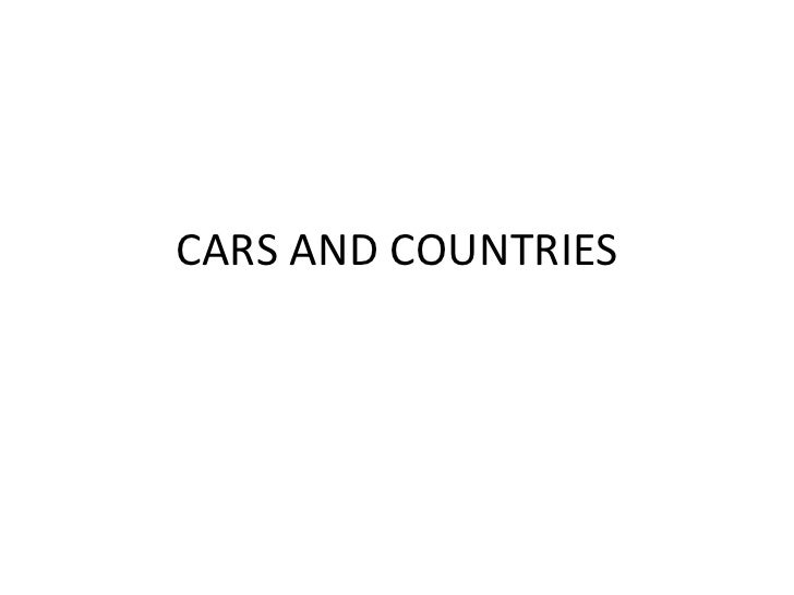 CARS AND COUNTRIES
