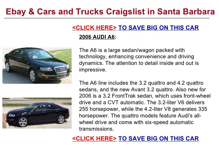 Ebay Amp Cars And Trucks Craigslist In Santa Barbara