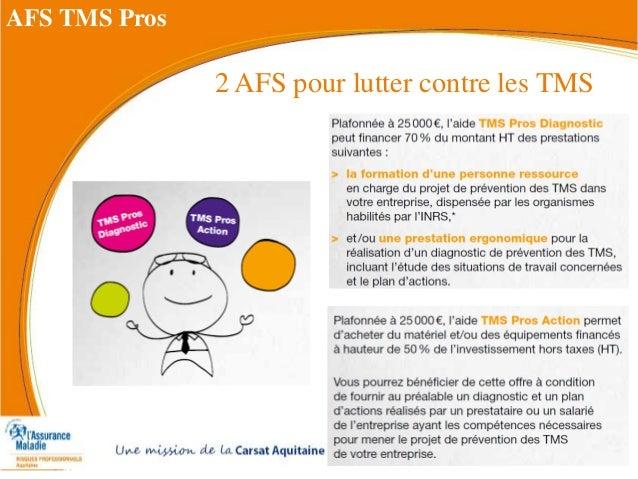 2 AFS pour lutter contre les TMS AFS TMS Pros