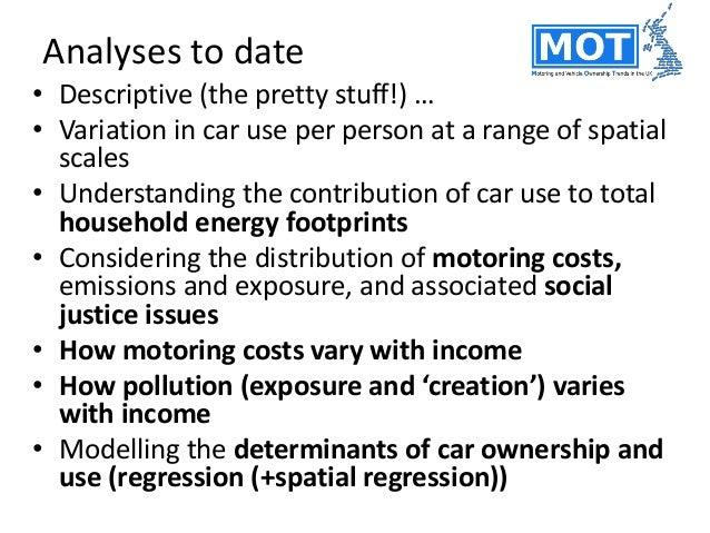 Key parameters (PCA level)