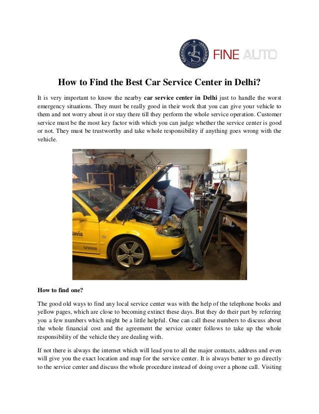 How To Find The Best Car Service Center In Delhi
