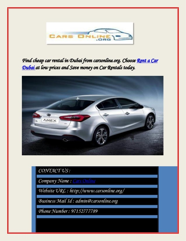 Car Lease at Lowest Rates in Dubai