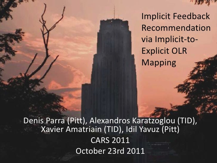 Implicit Feedback                                 Recommendation                                 via Implicit-to-         ...