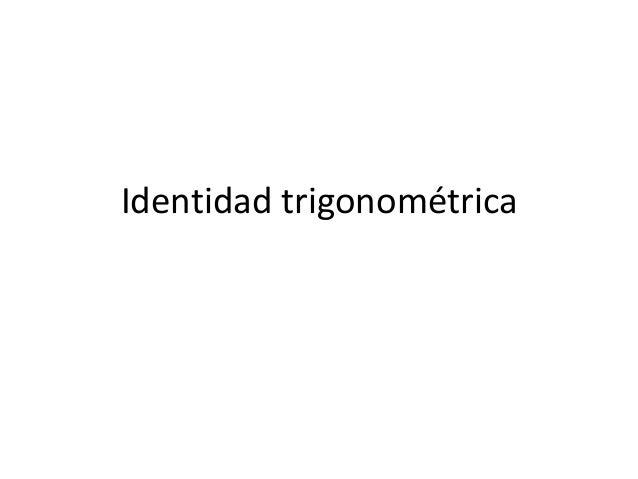 Identidad trigonométrica