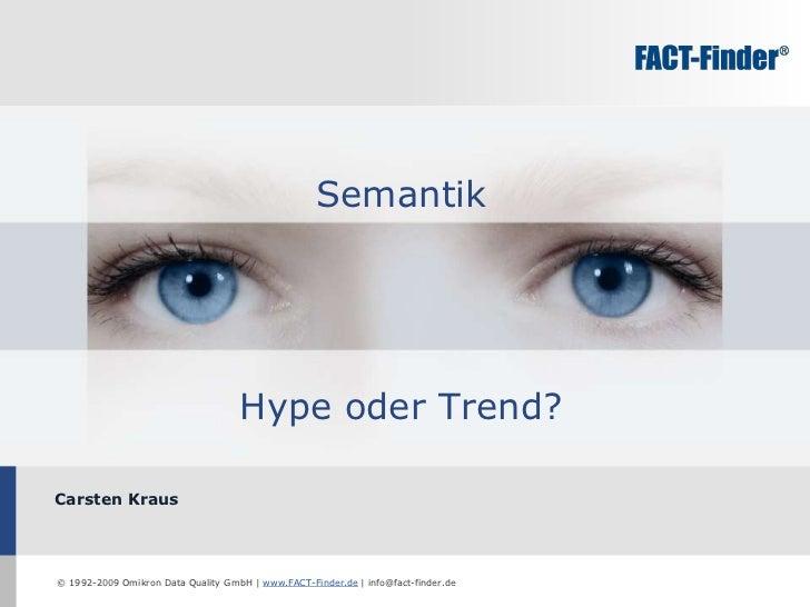 Carsten Kraus Semantik Hype oder Trend