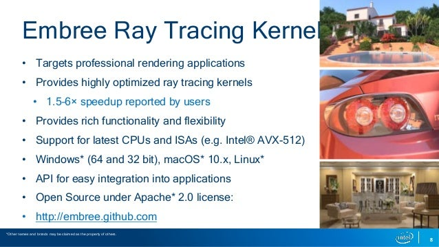 Embree Ray Tracing Kernels | Overview and New Features | SIGGRAPH 201…