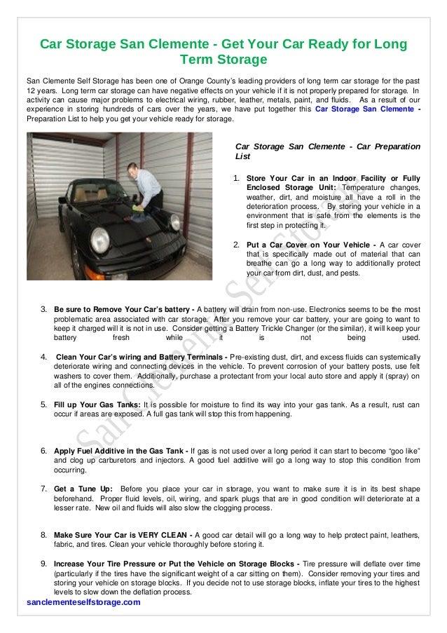 Car Storage San Clemente