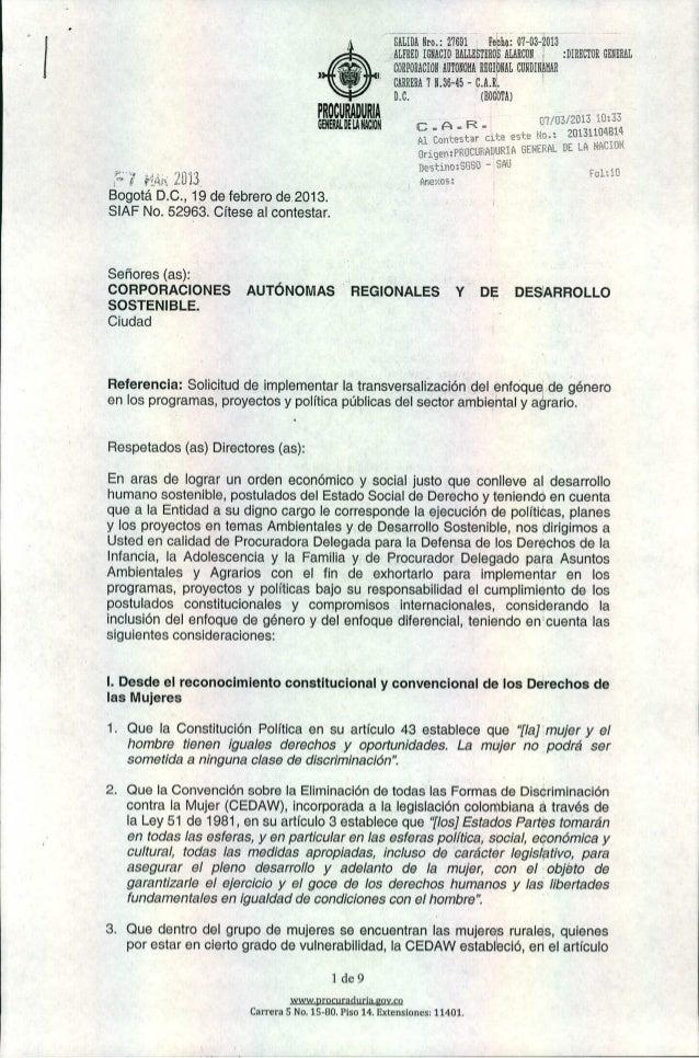 ")  <+> ~ .~.  PROCURADURIA GEHERAL DE lA NACION  """" '., f.'~An: 'iO'13 ,. f¡  j'~  J,.  .  --SALIDA lir~.: 27691 I Febhi~ ..."