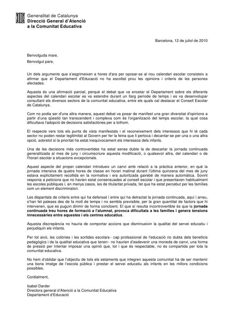 Generalitat de Catalunya Direcció General d'Atenció a la Comunitat Educativa                                              ...