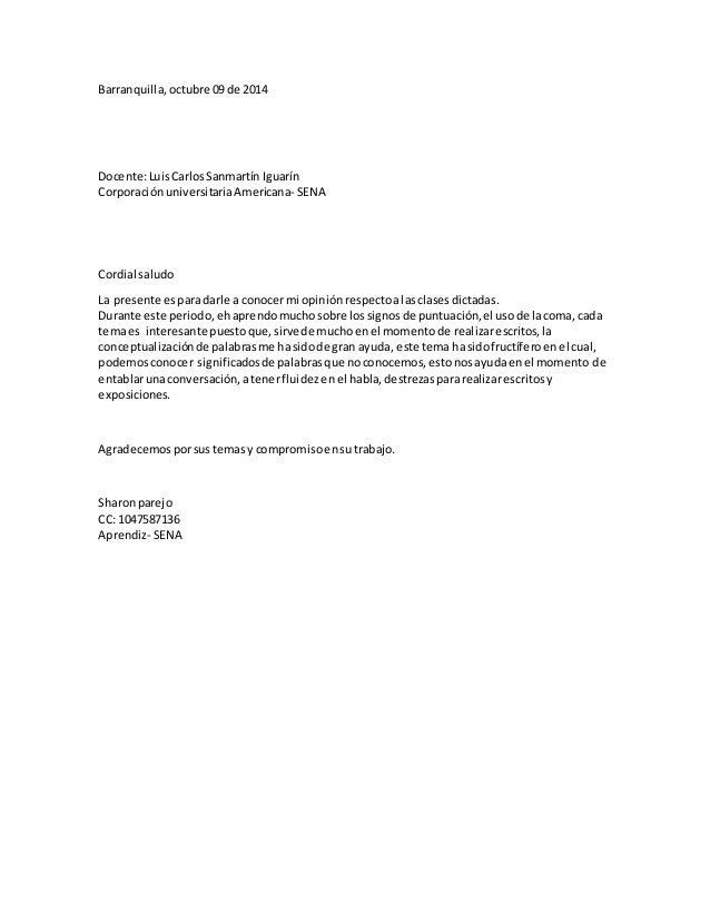 Barranquilla,octubre 09 de 2014 Docente:LuisCarlosSanmartín Iguarín CorporaciónuniversitariaAmericana- SENA Cordial saludo...