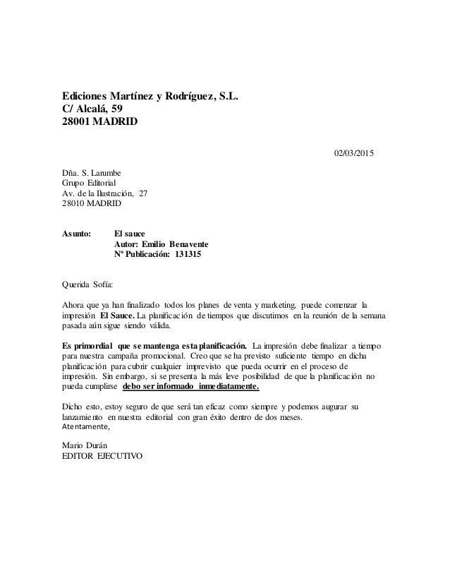 Ediciones Martínez y Rodríguez, S.L. C/ Alcalá, 59 28001 MADRID 02/03/2015 Dña. S. Larumbe Grupo Editorial Av. de la Ilust...