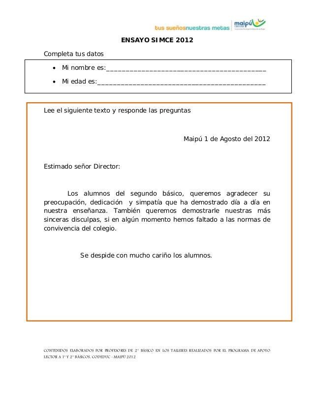 CONTENIDOS ELABORADOS POR PROFESORES DE 2° BÁSICO EN LOS TALLERES REALIZADOS POR EL PROGRAMA DE APOYO LECTOR A 1° Y 2° BÁS...