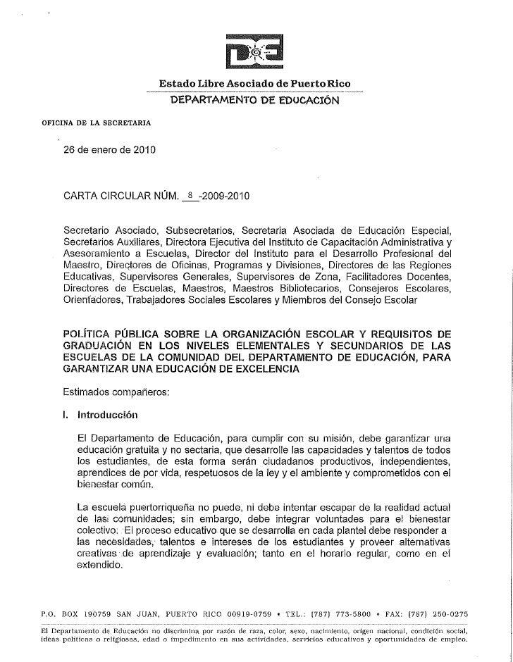 Carta Circular 8 2009 2010 Org Escolar