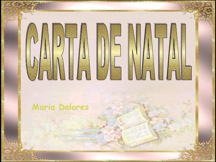 CARTA DE NATAL Maria Dolores