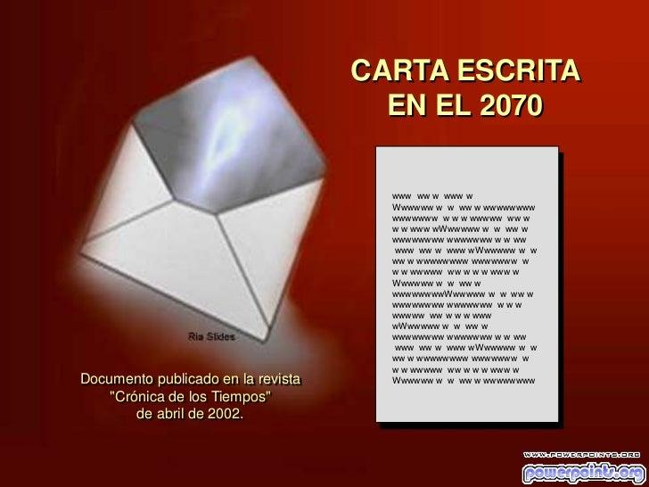 CARTA ESCRITA                                                   EN EL 2070                                                ...