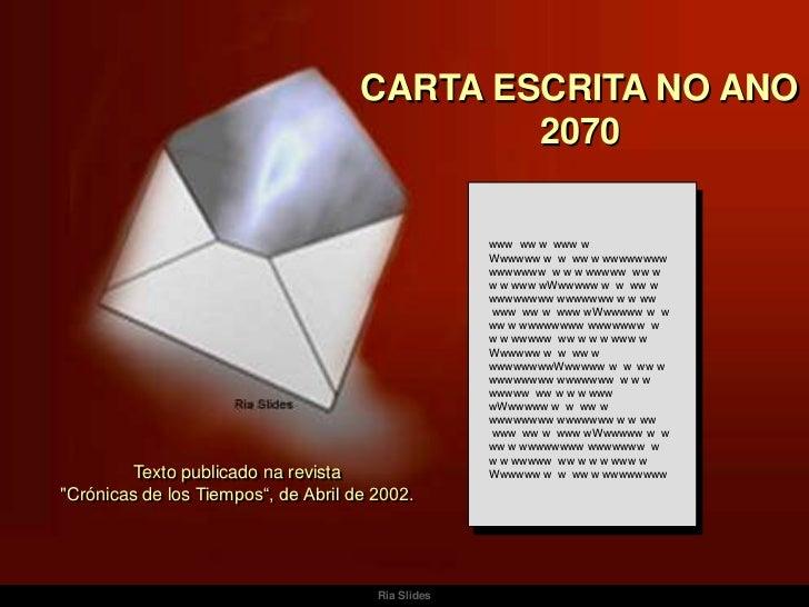 CARTA ESCRITA NO ANO                                             2070                                                    w...