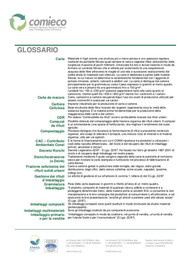 GLOSSARIO Carta Materiale in fogli avente una struttura più o meno porosa e uno spessore regolare, costituito da particell...
