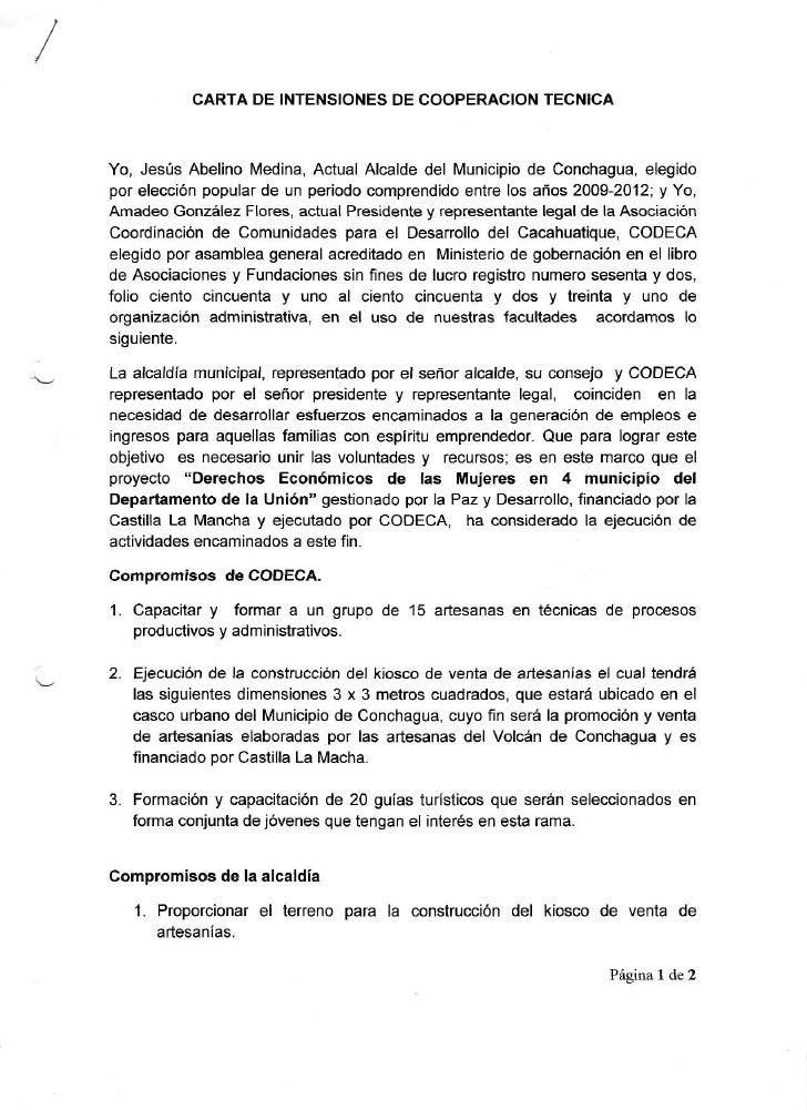 CARTADE INTENSIONES COOPERACION                             DE          TECNICA    Yo, Jesús Abel¡noMed¡na,   ActualAlcald...