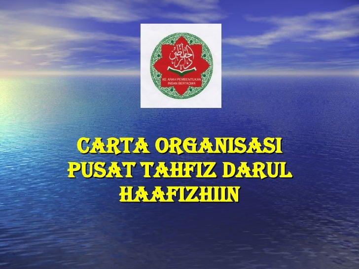 CARTA ORGANISASI PUSAT TAHFIZ DARUL HAAFIZHIIN
