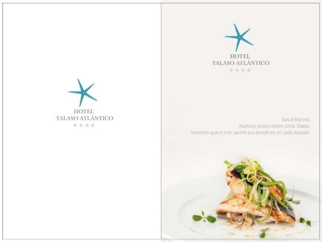 Carta Restaurante Faro del hotel Talaso Atlantico