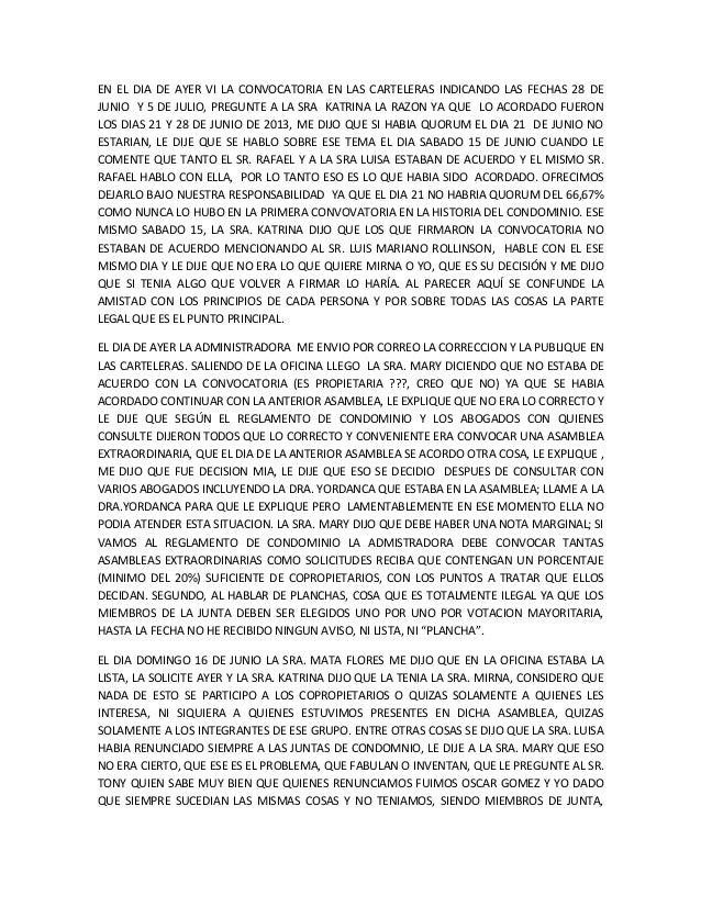 EN EL DIA DE AYER VI LA CONVOCATORIA EN LAS CARTELERAS INDICANDO LAS FECHAS 28 DE JUNIO Y 5 DE JULIO, PREGUNTE A LA SRA KA...