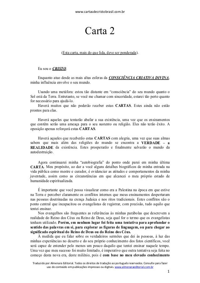 www.cartasdecristobrasil.com.br Traduzido por Almenara Editorial. Todos os direitos de tradução ao português reservados. C...