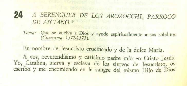 A BERENGUER DE LOS AROZOCCHI, PÁRROCO DE ASCIANO
