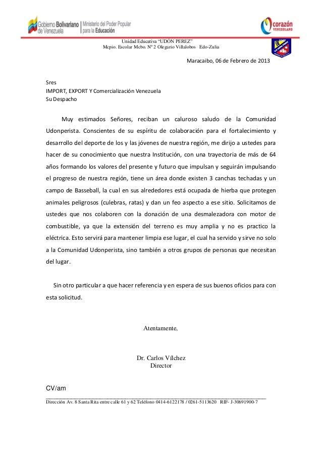 "Unidad Educativa ""UDÓN PEREZ""Mcpio. Escolar Mcbo. Nº 2 Olegario Villalobos Edo-ZuliaMaracaibo, 06 de Febrero de 2013SresIM..."