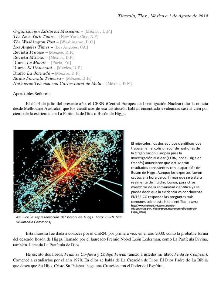 Tlaxcala, Tlax., México a 1 de Agosto de 2012Organización Editorial Mexicana – [México, D.F.]The New York Times – [New Yor...