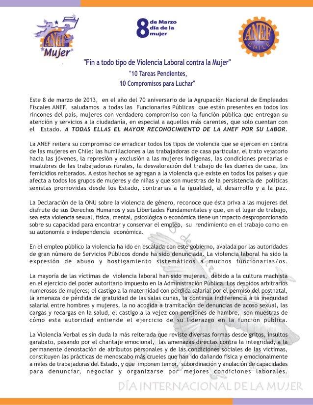 Carta ANEF 8 de Marzo 2013