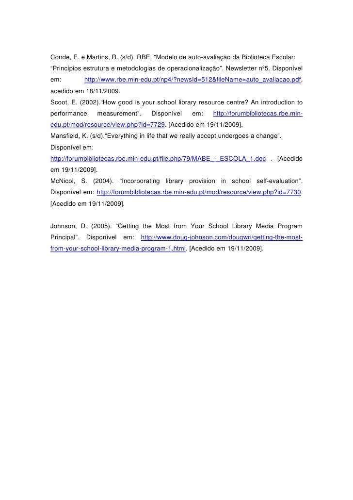 Exemplo de relatório escolar