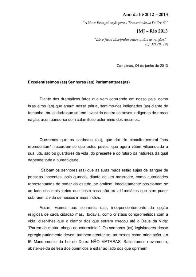 """Ano da Fé 2012 – 2013""""A Nova Evangelização para a Transmissão da Fé Cristã.""""JMJ – Rio 2013""""Ide e fazei discípulos entre to..."""