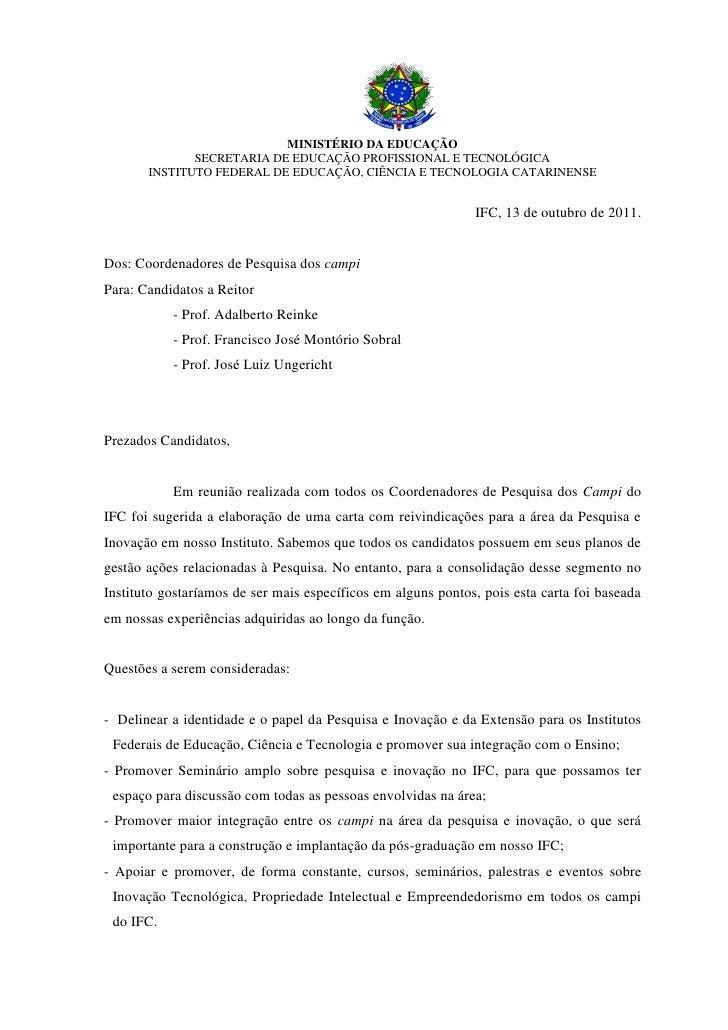 MINISTÉRIO DA EDUCAÇÃO              SECRETARIA DE EDUCAÇÃO PROFISSIONAL E TECNOLÓGICA       INSTITUTO FEDERAL DE EDUCAÇÃO,...