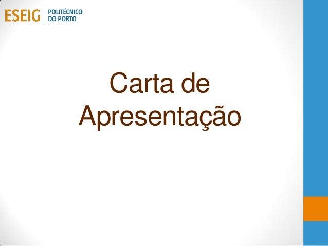 Carta deApresentação