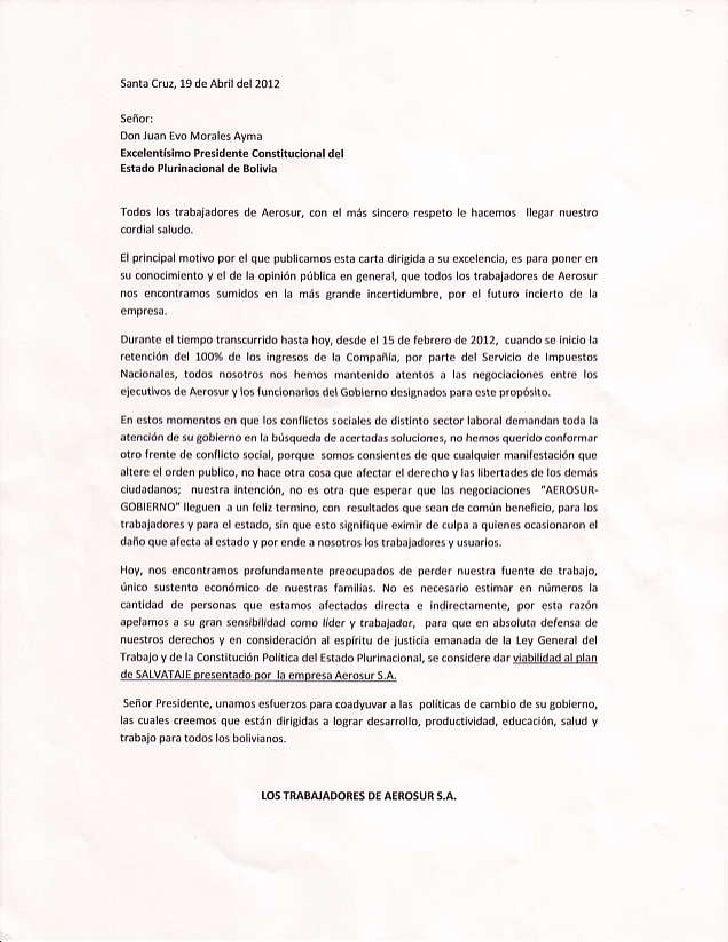 Carta a presidente