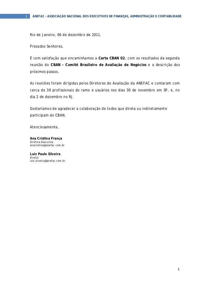 1  ANEFAC - ASSOCIAÇÃO NACIONAL DOS EXECUTIVOS DE FINANÇAS, ADMINISTRAÇÃO E CONTABILIDADE  Rio de Janeiro, 06 de dezembr...