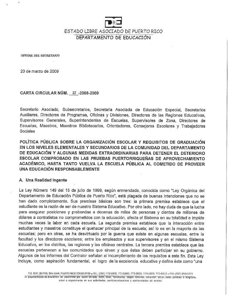 Carta Circular 27 2008 2009