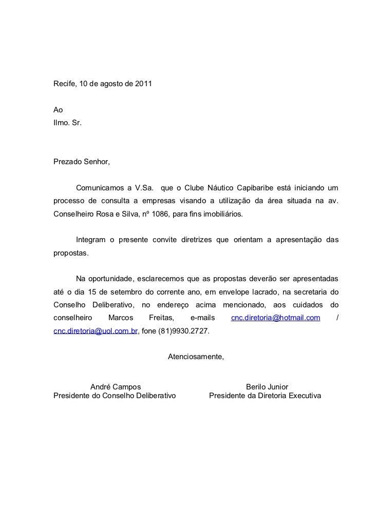 Carta Comunicado Nautico