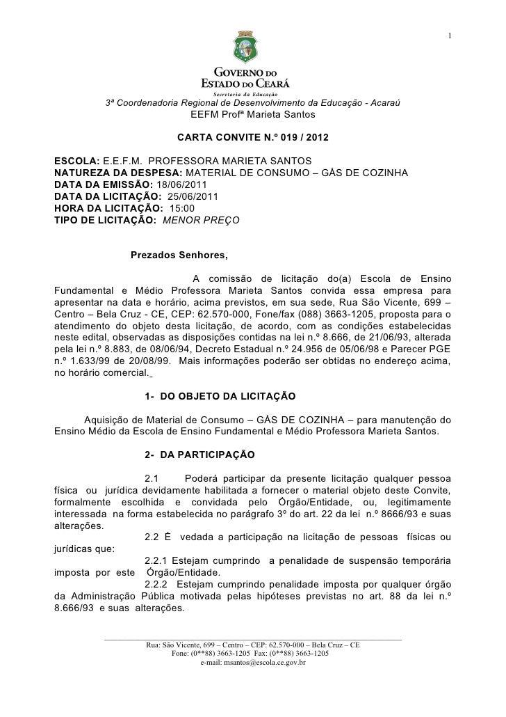 1           3ª Coordenadoria Regional de Desenvolvimento da Educação - Acaraú                                 EEFM Profª M...