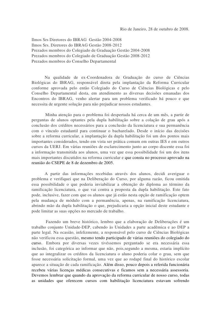 Rio de Janeiro, 28 de outubro de 2008.Ilmos Srs Diretores do IBRAG Gestão 2004-2008Ilmos Srs. Diretores do IBRAG Gestão 20...