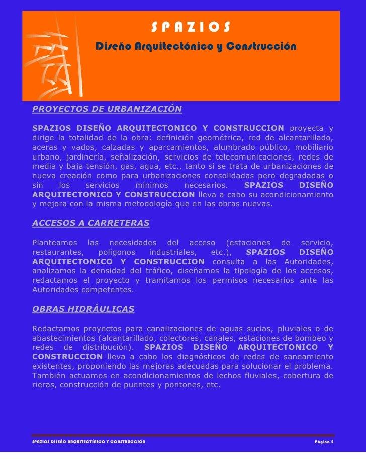 de Servicios Spazios Diseño Arquitectónico y Construcción