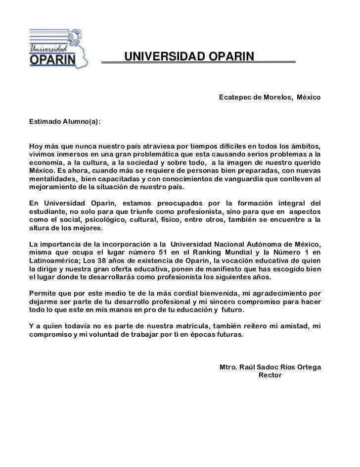 UNIVERSIDAD OPARIN                                                       Ecatepec de Morelos, MéxicoEstimado Alumno(a):Hoy...
