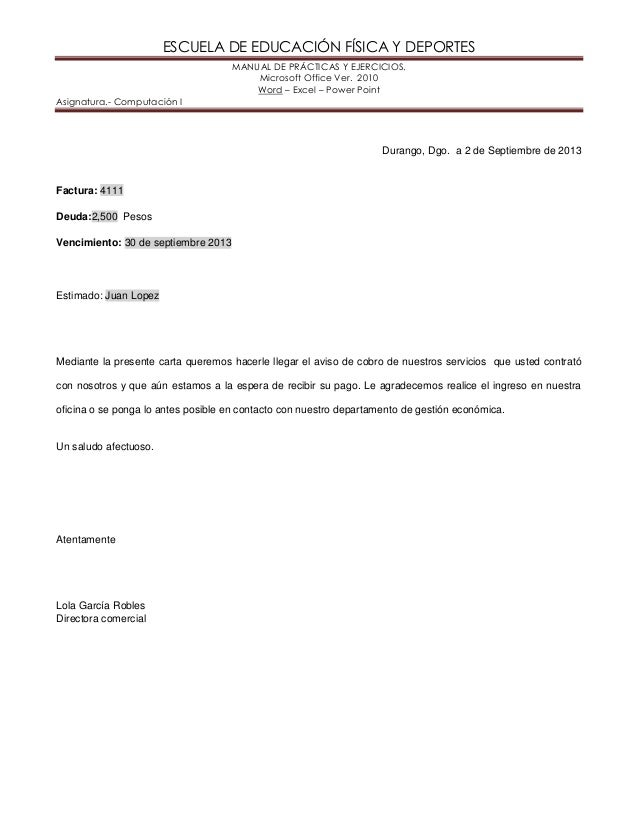 ESCUELA DE EDUCACIÓN FÍSICA Y DEPORTES MANUAL DE PRÁCTICAS Y EJERCICIOS. Microsoft Office Ver. 2010 Word – Excel – Power P...