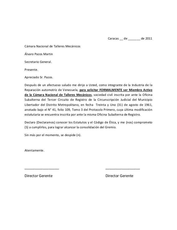 Caracas __ de _______ de 2011 <br />Cámara Nacional de Talleres Mecánicos<br />Álvaro Pazos Martin<br />Secretario General...