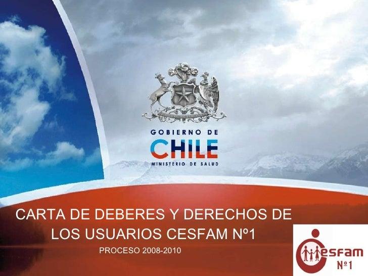PROCESO 2008-2010 CARTA DE DEBERES Y DERECHOS DE LOS USUARIOS CESFAM Nº1