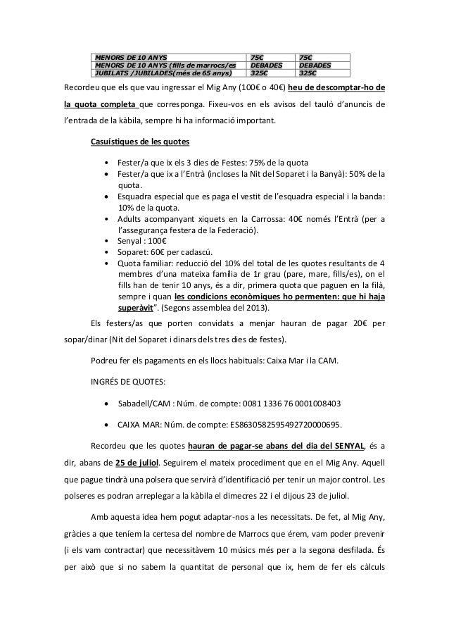 MENORS DE 10 ANYS 75€ 75€ MENORS DE 10 ANYS (fills de marrocs/es DEBADES DEBADES JUBILATS /JUBILADES(més de 65 anys) 325€ ...