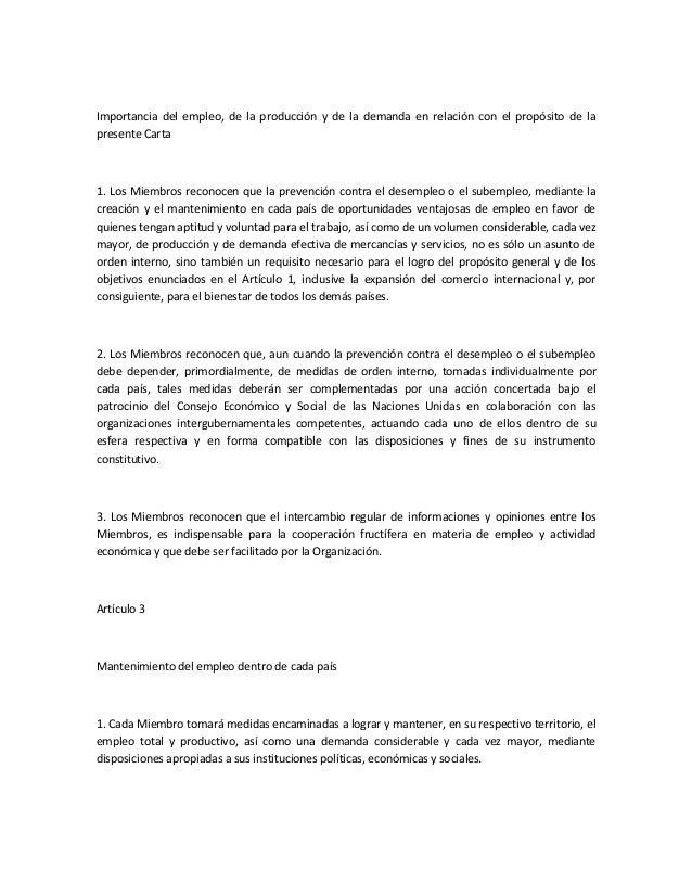 Carta de la habana para una organizaci n internacional de for Consulta demanda de empleo