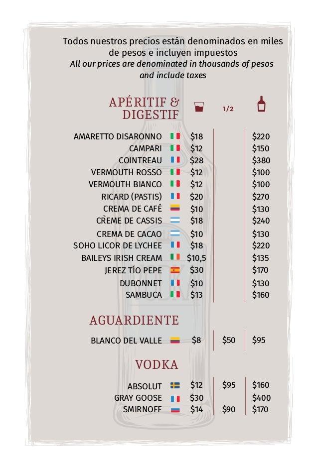 Todos nuestros precios están denominados en miles de pesos e incluyen impuestos All our prices are denominated in thousand...