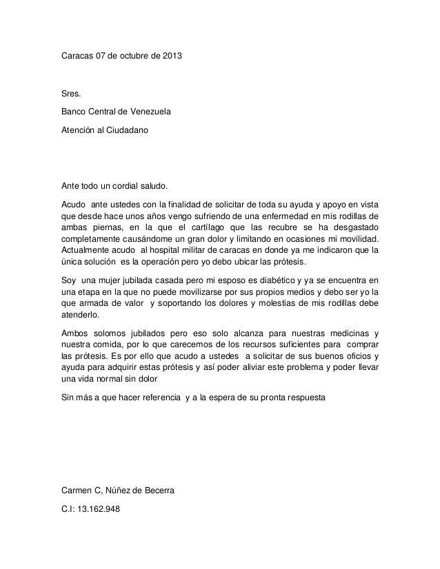 Carta de mama for Banco de venezuela solicitud de chequera